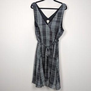a new day Dresses - A New Day Plaid Grid Surplice Neckline Dress NWOT